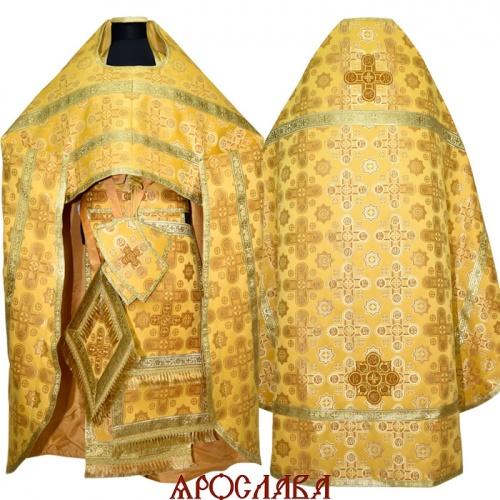 АРТ1016. Риза желтый шелк Вифлеем,обыденная отделка (цвет золото).