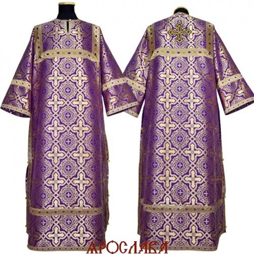 АРТ 1033. Стихарь фиолетовый с золотом шелк Златоуст, отделка цветной галун (фиолетовый с золотом).