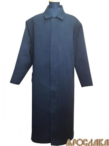 АРТ1048. Пальто мужское, утепление синтепоном. Отложной ворот, потайная застежка, боковые прорезные карманы.