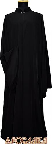 АРТ1109. Ряса греческая, ткань черная шерсть Гуабелла. Производство Италия.