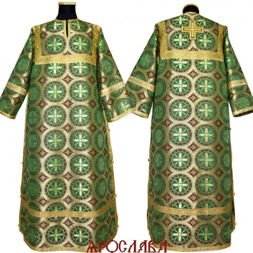 АРТ 1181. Стихарь зеленый шелк Троицкий, обыденная отделка (цвет золото).