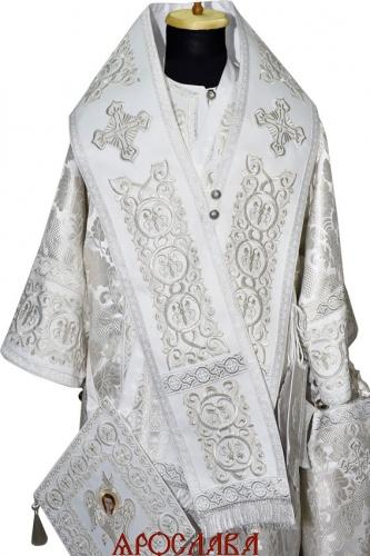 АРТ1196. Архиерейское облачение с вышивкой рисунок Русский Афон, комбинированный с греческой парчой.