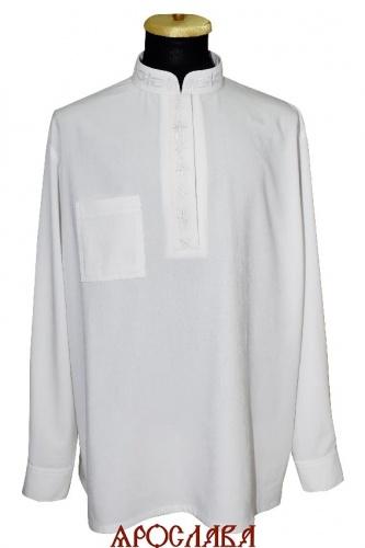 АРТ1216. Рубашка. Ткань  хлопок. Ворот стойка. Нагрудный карман справа. Вышитый ворот, планка шелком рис №4