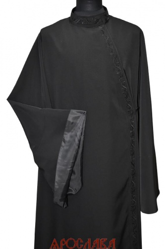 АРТ1239. Ряса русская, ткань мокрый шелк. Вышитый рис.№20: ворот, борт.
