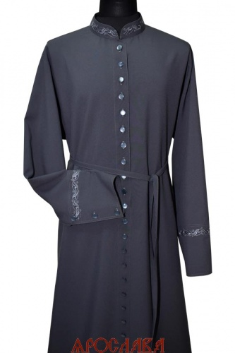 АРТ1266. Подрясник-платье основа русская, ворот греческий, ткань габардин. Вышивка рис №2: ворот, манжеты. 33 пуговицы.