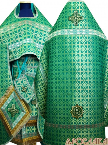 АКЦИЯ. АРТ1348. Риза зеленая парча Ипатий.
