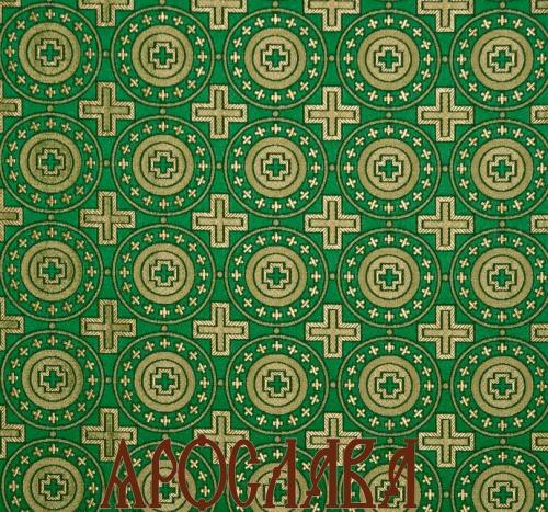 АРТ1431. Шелк церковный Мирликийский крест мелкий