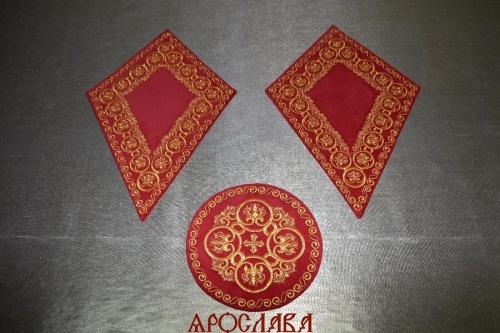 АРТ1546. Платы под кресты и лампаду вышитые Русский Афон.