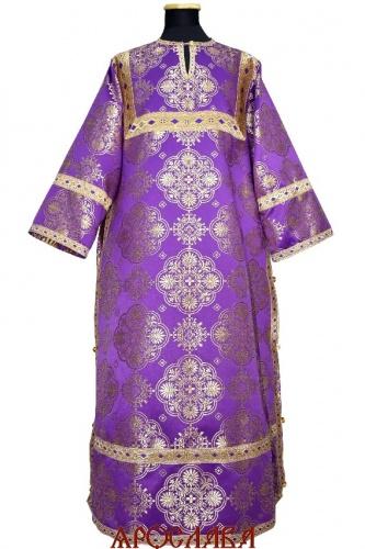 АРТ 1573. Стихарь фиолетовый с золотом шелк Почаевский, отделка цветной галун (фиолетовый с золотом).
