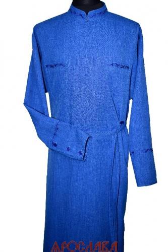 АРТ1603. Подрясник греческий. Ткань меланж. Вышивка рис  №2: ворот, нагрудные карманы, манжеты.