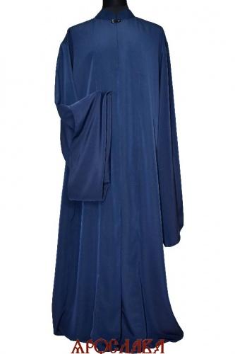 АРТ1607. Ряса греческая, ткань мокрый шелк. Цвет темно-синий (почти черный)