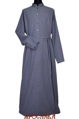 АРТ1612. Подрясник-платье основа русская, ворот греческий, ткань лен.