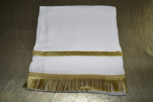 АРТ1717. Подризник с отделкой бахрома и тесьма,ткань сорочечная,185/60-62