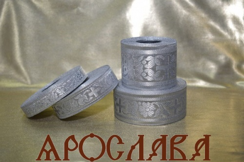 АРТ1736. Галун обыденный. Цвет серебро.Ширина 3,5см.