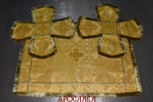 АРТ1765. Покровцы парча Вера, отделка обыденная(тесьма,бахрома).