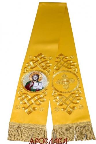 АРТ1862. Заклада Евангелие вышитый рисунок Византийский, с вышитой иконой Господь Вседержитель.Размер 150*15,ткань однотонный атласный шелк.