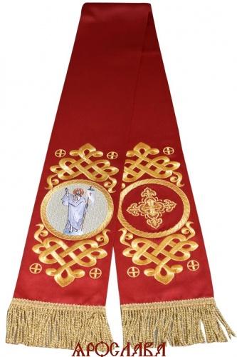 АРТ1863. Заклада Евангелие вышитый рисунок Византийский, с вышитой иконой Спас Воскресший.Размер 150*15,ткань однотонный атласный шелк.