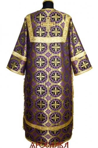 АРТ 1868. Стихарь фиолетовый шелк Троицкий, обыденная отделка (цвет золото).