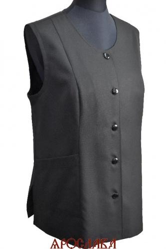 АРТ1885. Жилет женский, без подкладки, два нижних кармана,входящих в рельефные и боковые швы.