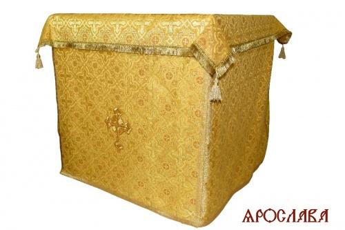 АРТ2010. Облачение на престол парча Златоуст, отделка цветной галун.