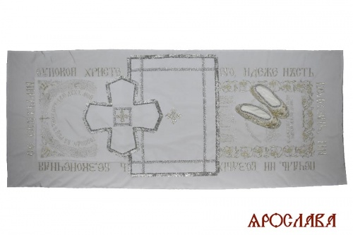 АРТ2015. Погребальный комплект, вышивка. Ткань мокрый шелк.