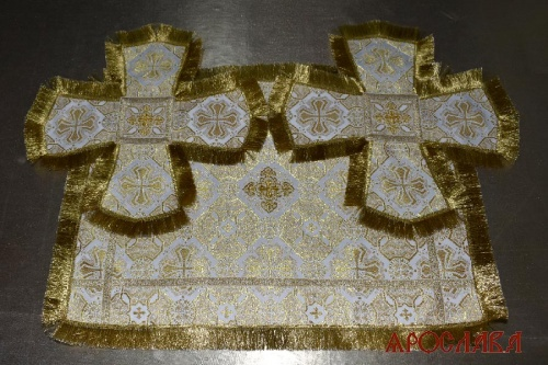 АРТ2029. Покровцы парча Покров, отделка цветной галун, бахрома.