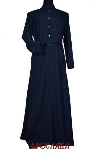 АРТ2034. Подрясник-платье основа русская, ворот греческий, ткань габардин.