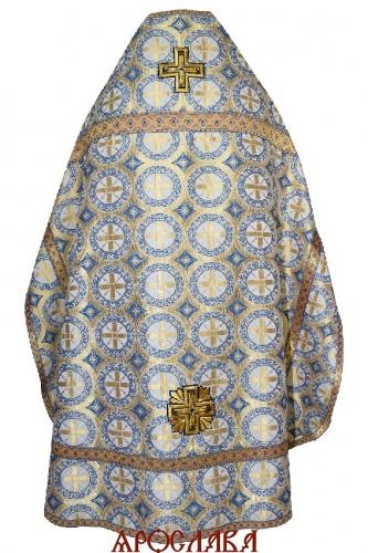 АРТ2095. Риза  парча Троицкий, отделка цветной галун (голубой с золотом).