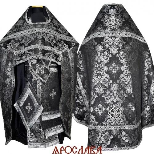 АРТ2130. Риза парча Слуцкий, отделка цветной галун(черный с серебром).
