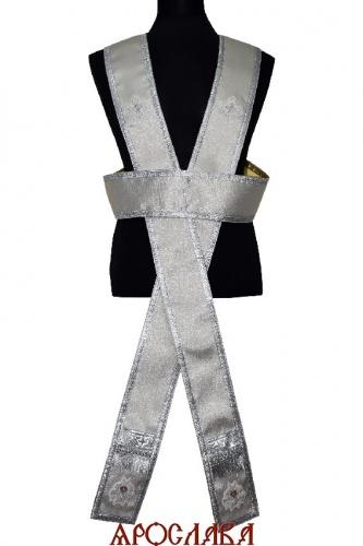 АРТ2162. Иподиаконский орарь(двухцветный). Одна сторона однотонная парча серебряного цвета, вторая золотого.