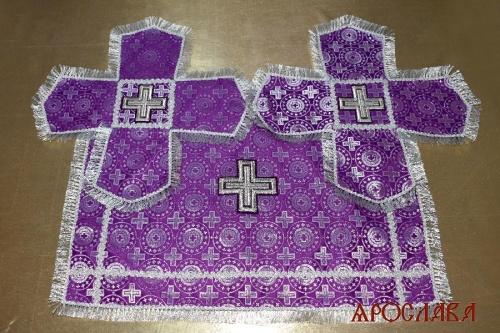 АРТ2196. Покровцы шелк Мирликийский крест мелкий.