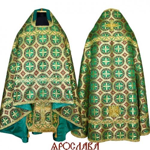 АРТ2206. Риза старообрядческая, шелк Троицкий, отделка цветной галун.