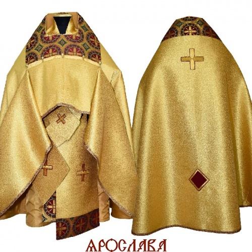 АРТ455. Облачение византийского образца 14 века. Ткань золотая парча комбинированная с шелком.