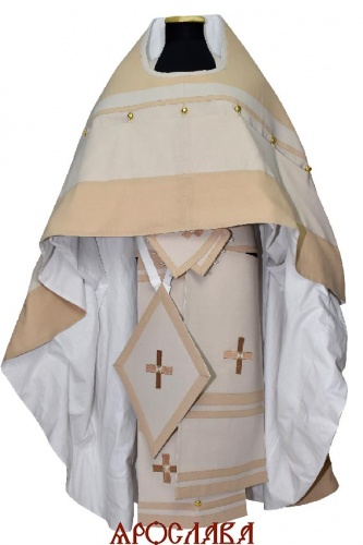 АРТ462. Облачение византийского образца. Ткань лен. Кресты и галуны ручная работа.