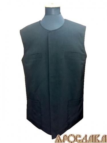 АРТ995. Жилет ткань габардин, утепленный синтепоном,потайная застежка ,два нижних накладных кармана, верхние карманы прорезные.