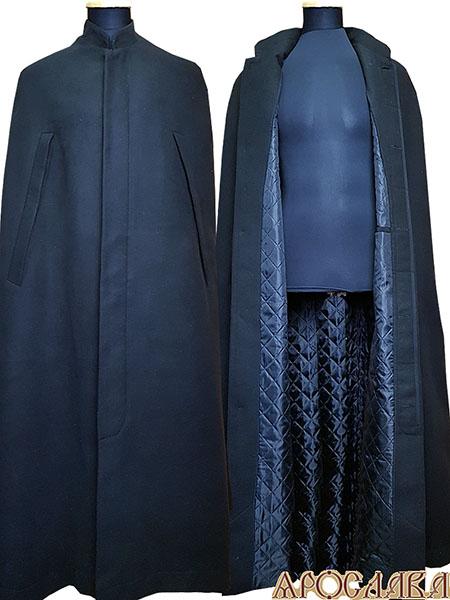 АРТ1000. Пальто-накидка монашеская,утепление синтепоном. Ворот стойка, потайная застежка, прорези для рук.