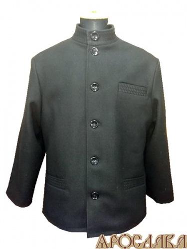 АРТ1052. Пальто с воротником стойка, утепленное синтепоном. Прорезной нагрудный карман.Два нижних прорезных кармана. Декоративная строчка ворот, карманы.