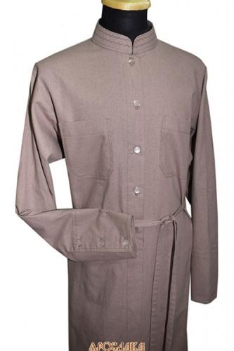 АРТ1085. Подрясник-платье основа греческая, пуговицы до талии. Ткань  лен.