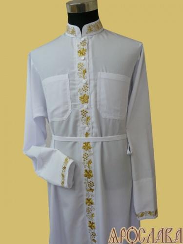 АРТ1164. Подрясник-платье основа греческая, мокрый шелк. Вышитый три рисунка :ворот, карманы, планка, манжеты.