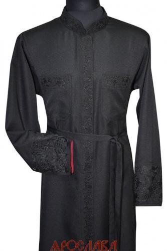 АРТ1170. Подрясник-платье основа греческая, ткань плотная костюмная. Кант верх манжета. Вышивка широкий рисунок Виноград: ворот, манжет, карманы, планка.Застежка молния, кнопки. Изнанка манжета бордового цвета