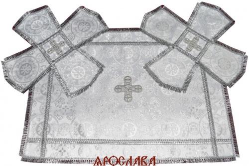 АРТ1192. Покровцы шелк Севастьяновский, отделка тесьма, бахрома.
