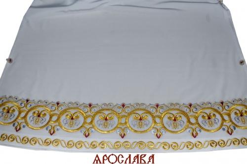 АРТ1195. Подризник вышитый рисунок Русский Афон, с вышитым галуном по низу.