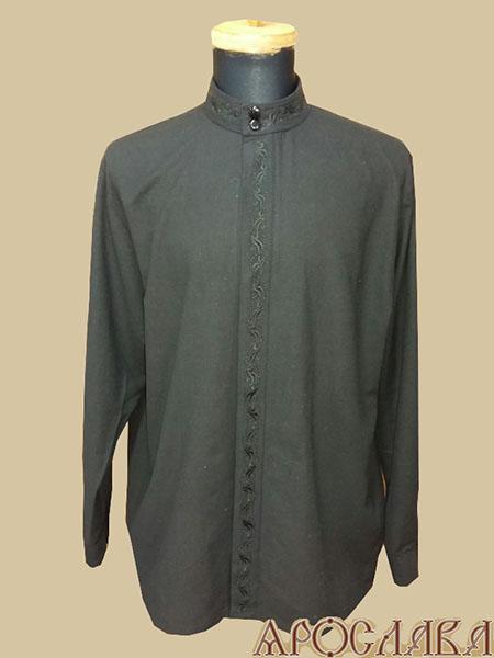 АРТ1218. Рубашка . Ткань лен, вышитый ворот,планка.рис.№2