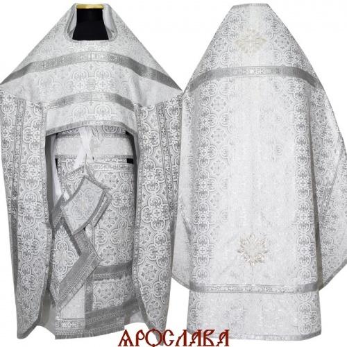 АРТ1229. Риза белая с серебром парча Василия, обыденная отделка.