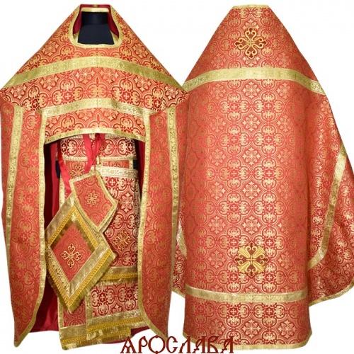 АРТ1230. Риза красная парча Василия, обыденная отделка.