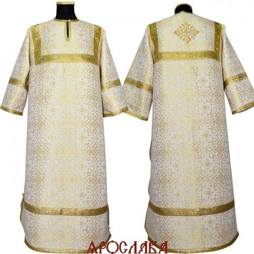 АРТ1254. Стихарь бело-золотой шелк Шуйский, обыденная отделка (цвет золото).