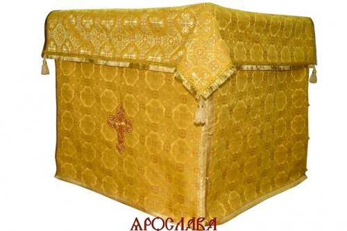 АРТ1261. Облачение на престол парча Покров, отделка цветной галун.