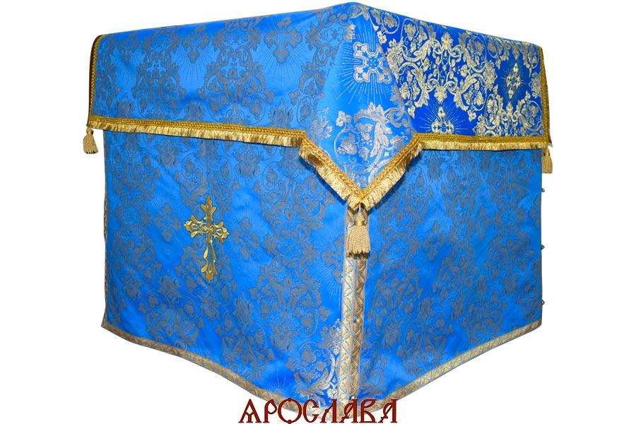 АРТ1262. Облачение на престол парча Слуцкий, отделка цветной галун.