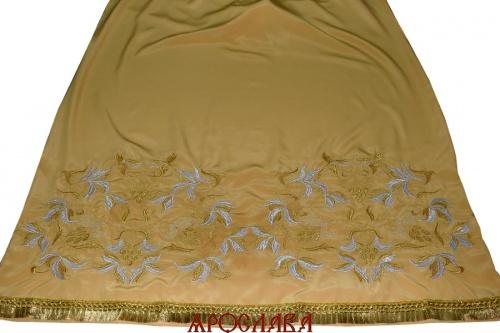 АРТ1268. Подризник вышитый рисунок Лидия. Ткань желтая.