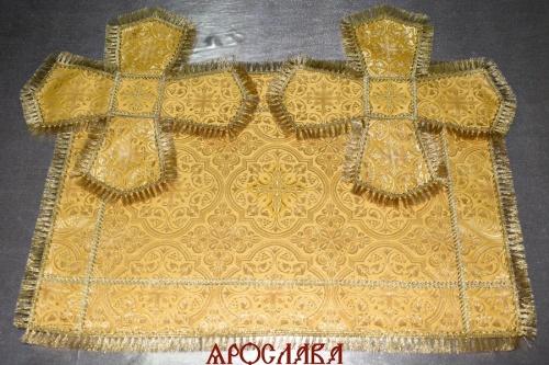 АРТ1302. Покровцы шелк Шуйский, отделка тесьма, бахрома.